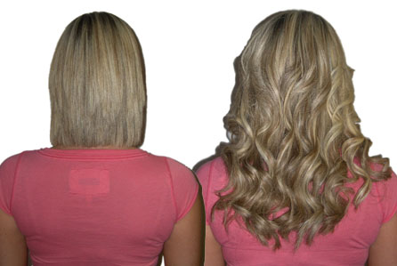 ... had short hair that lacked fullness she had 14 human hair extensions